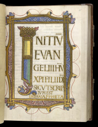 Beginning of the Gospel of Mark, in the 'Bury Gospels'